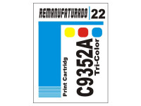 Etiqueta para Cartucho HP 22  C9352