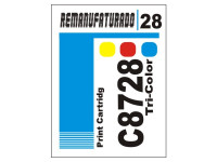 Etiqueta para Cartucho HP 28  C8728