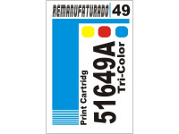 Etiqueta para Cartucho HP 49  51649