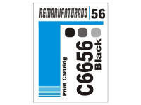 Etiqueta para Cartucho HP 56  C6656