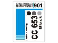 Etiqueta para Cartucho HP 901  CC653
