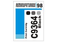 Etiqueta para Cartucho HP 98  C9364