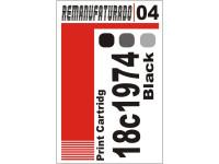 Etiqueta para Cartucho Lexmark 04  18c1974