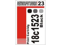 Etiqueta para Cartucho Lexmark 23  18c1523