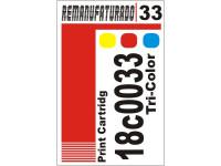 Etiqueta para Cartucho Lexmark 33  18c0033