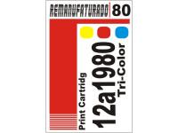 Etiqueta para Cartucho Lexmark 80 12a1980