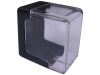 Caixa Clips Cristal Abertura Lateral Pequena para Recarga de Cartucho