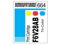 Etiqueta para Cartucho HP 664 F6V28AB COLOR